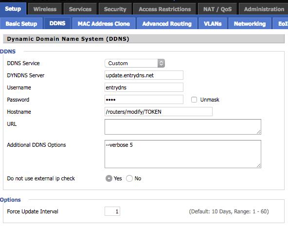 EntryDNS - DNS service and dynamic DNS